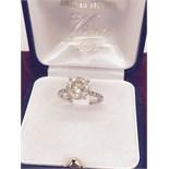 3.10ct DIAMOND SOLITAIRE RING