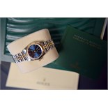 Rolex Ladies Gold/ Steel Oyster Perpetual - Blue Dial