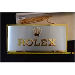 *RARE* Original Rolex Brass/ Gold Dealer Display Sign Memorabilia Collectable