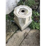 PAIR OF CONCRETE STANDS APPROX 2ft HIGH