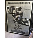"""The Beatles Hard Day's Night Official Poster Italy 55""""x39"""" Tutti Per Uno RARE!!!"""