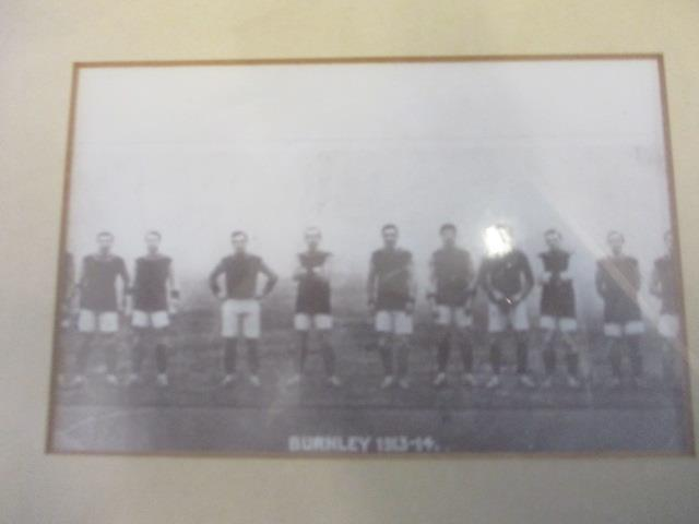 Lot 43 - A mixed selection of framed and glazed prints to include one of Burnley football team 1913-14, along