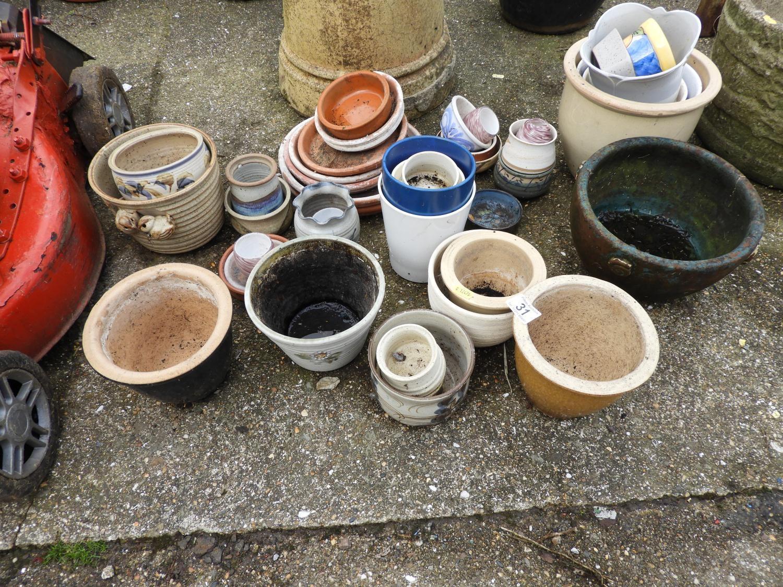 Quantity of Garden Pots and Garden Chemicals etc