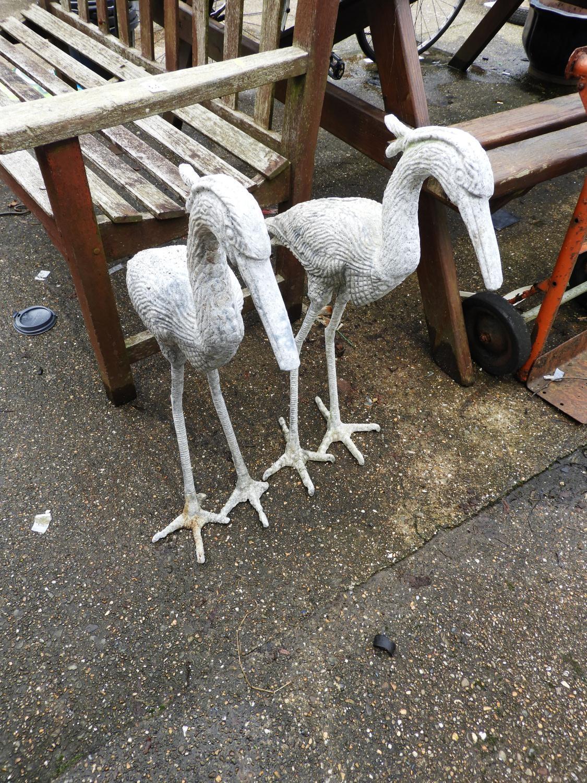 Pair of Metal Decoy Herons
