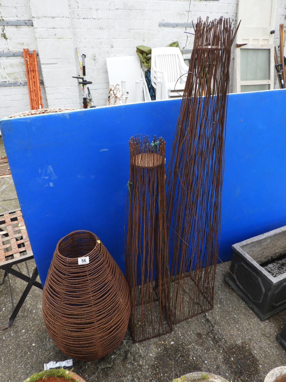 Lot 56 - Decorative Garden Metalware