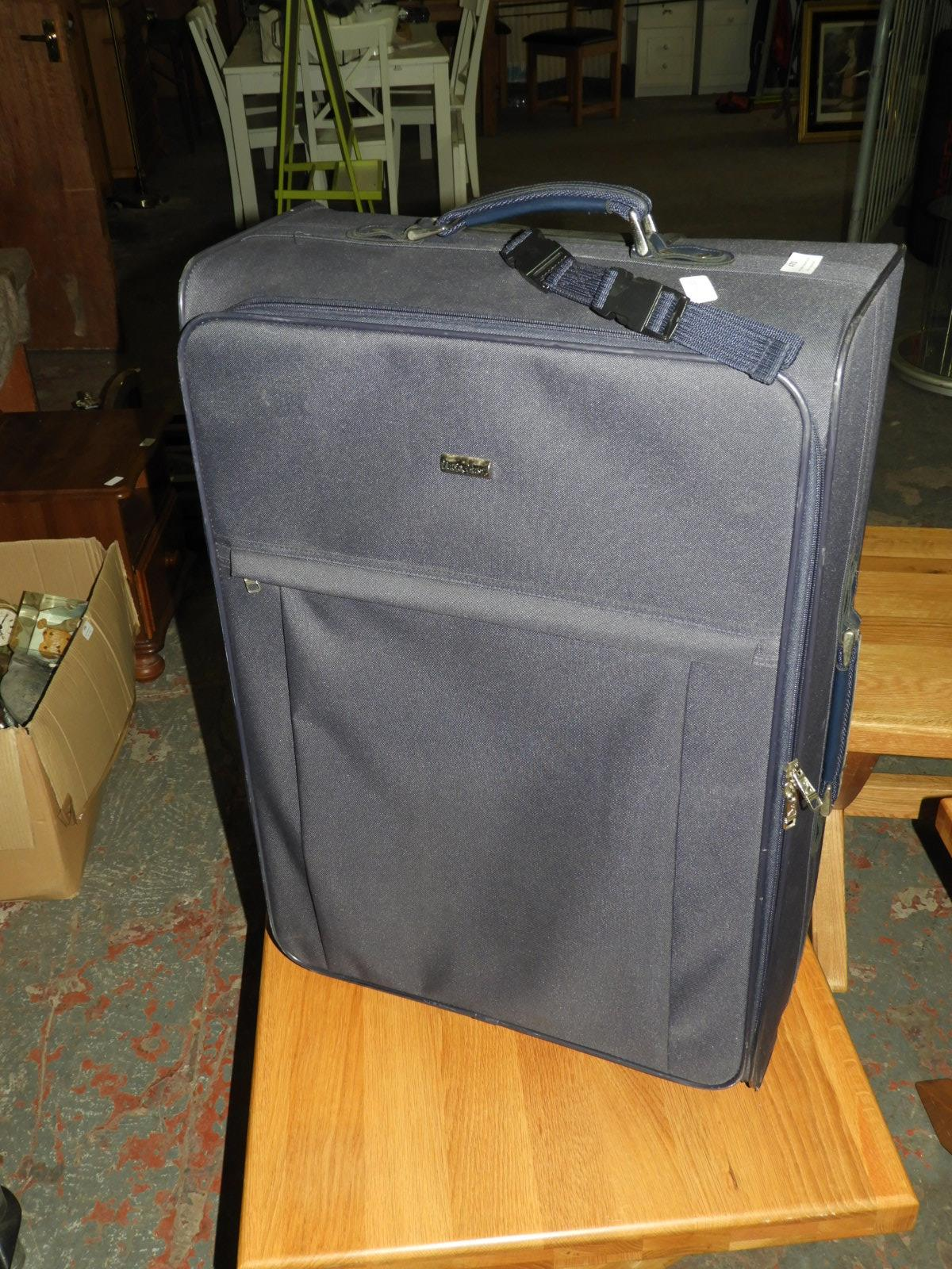 Lot 470 - Pack Easy Pull Along Suitcase (Navy Blue)
