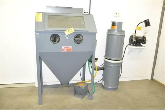 TRINCO 36/BP Dry Shot Reach-In Type Sand Blast Cabinet, TRINCO BP2 ...