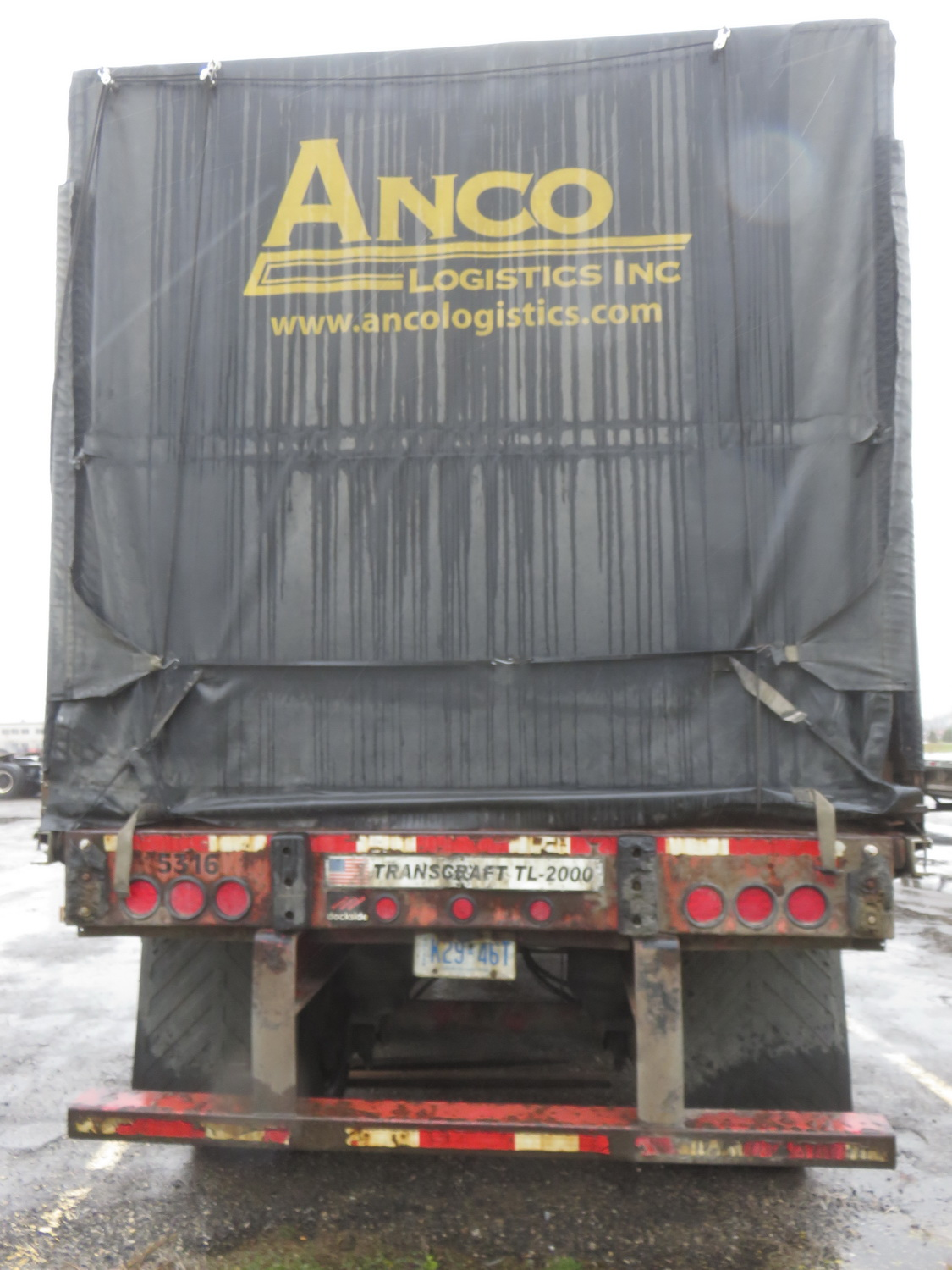 2006 TRANSCRAFT TL2, 53' X TRIAXLE FLATBED CURTAIN SIDE ROLL TITE TRAILER - S/N 1TTF5330161080389 - Image 4 of 5