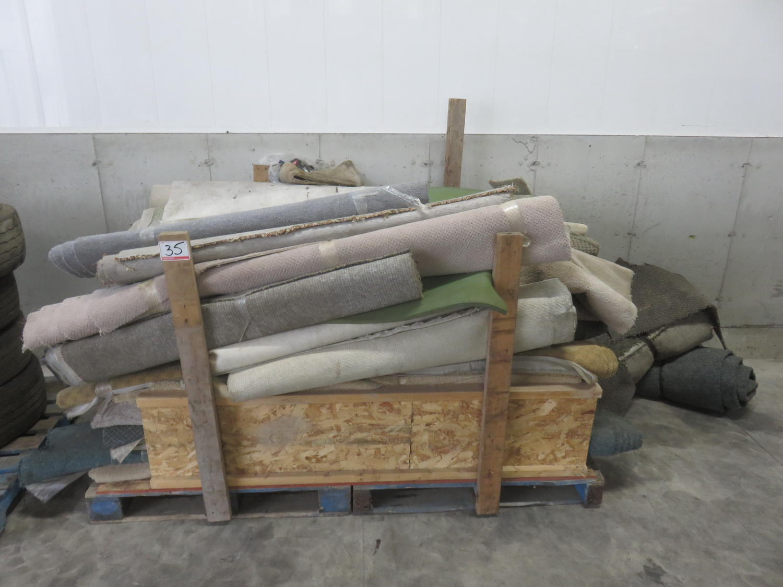 LOT - ASSORTED ROLLS OF CARPET