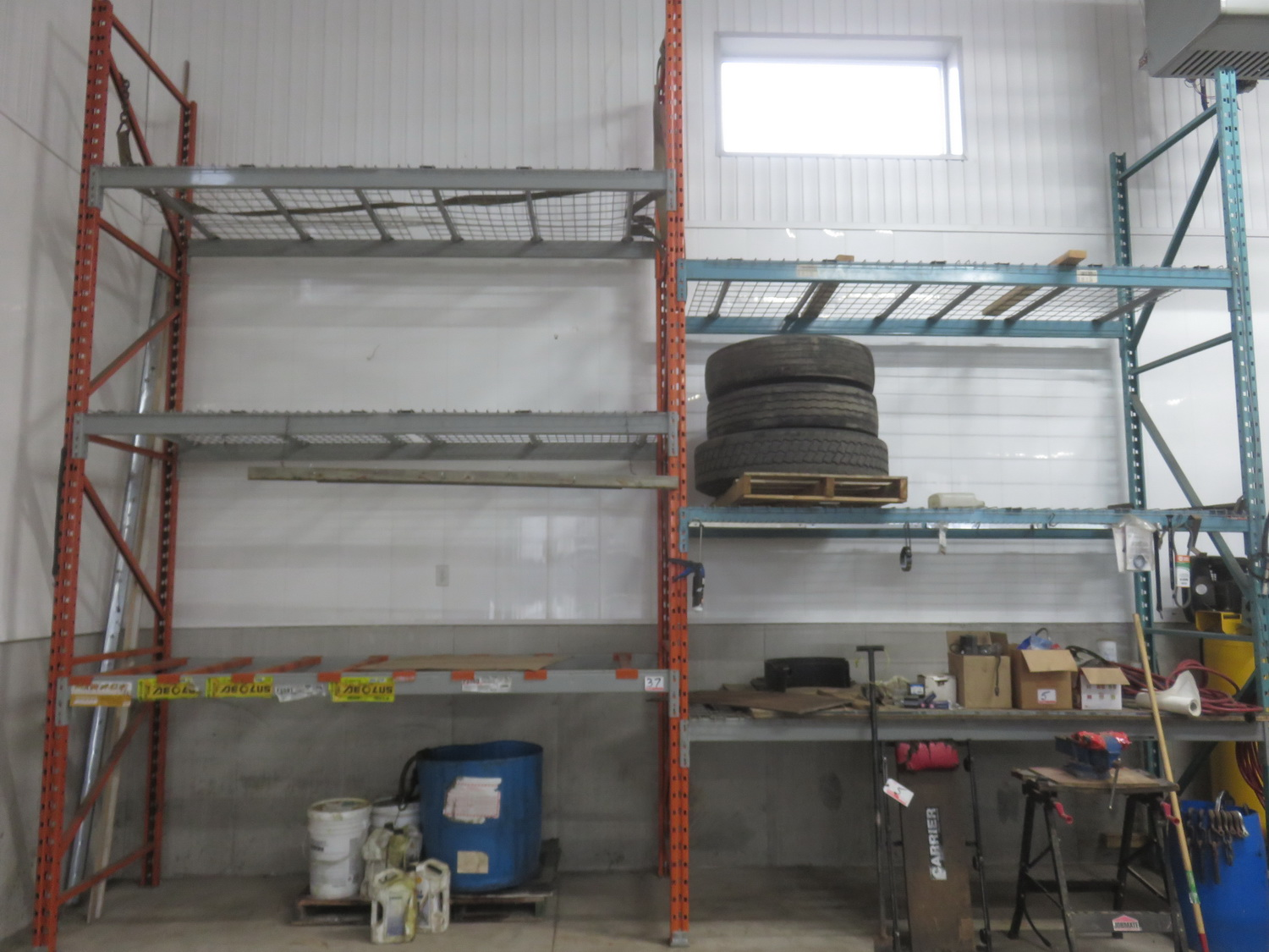 "SECTIONS - BLUE/ ORANGE 42 X 9 X 183"" RACKING"