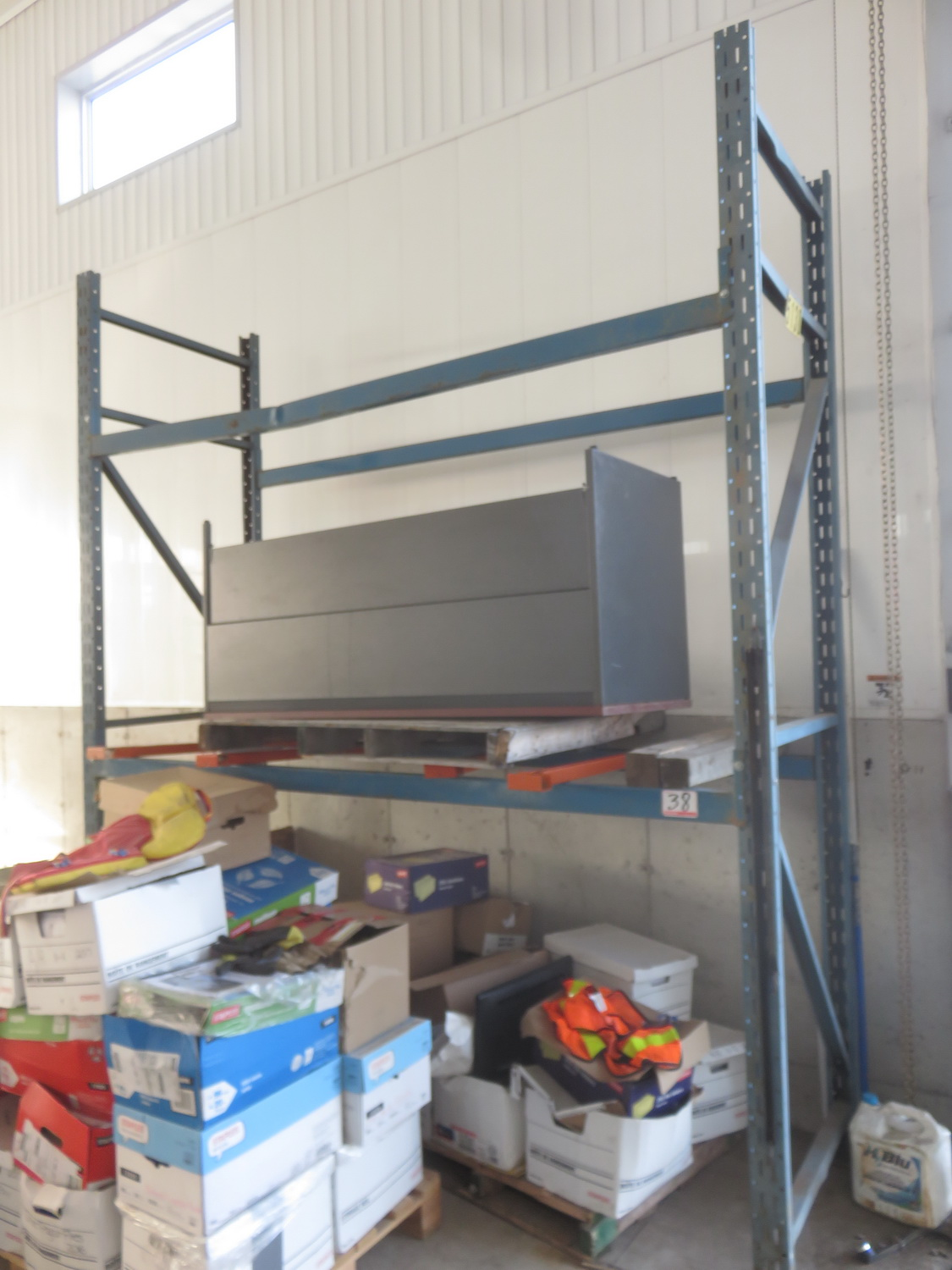 SECTION - BLUE STEEL 36 X 8 X136 PALLET TRACK