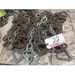 "LOT - STEEL APPRX 20"" CHAIN UNITS (APPROX. 22 PIECES)"