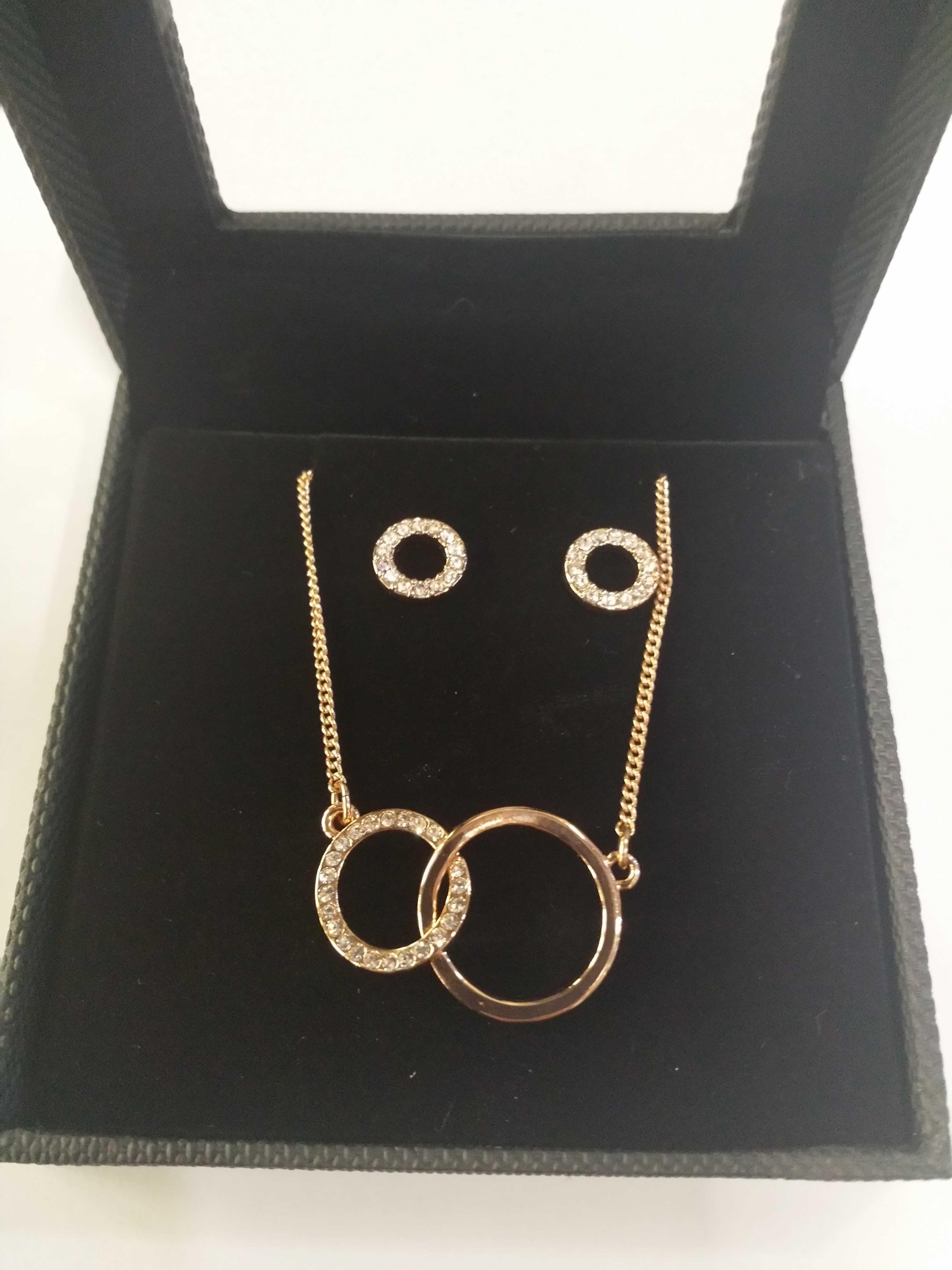 Lot 14 - 12 PILGRIM ROSE GOLD NECKLACE AND EARRING SET RRP £376.80
