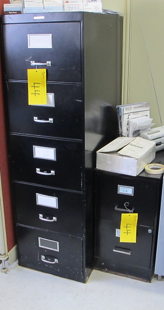 Lot 44A - LOT OF 2 FILE CABINETS