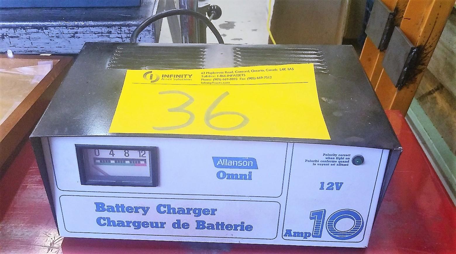 Lot 36 - ALLANSON OMNI 12V BATTERY CHARGER