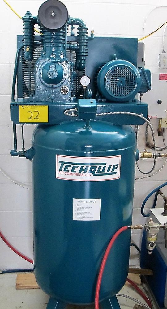Lot 22 - TECHQUIP 5HP, 80 GALLON AIR COMPRESSOR