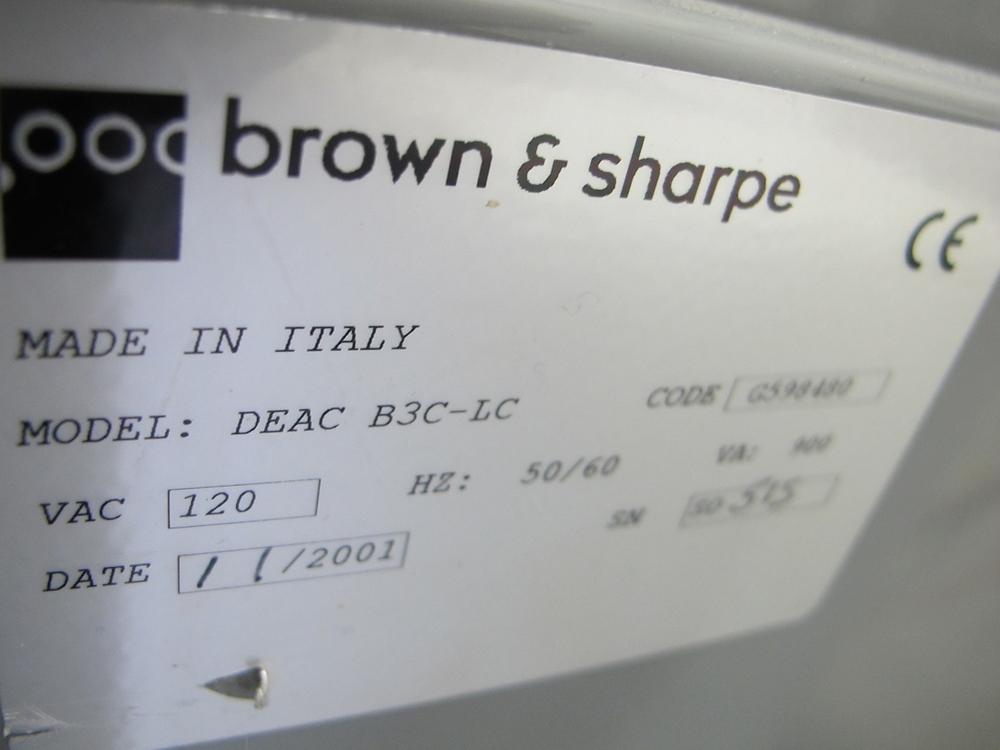 Lot 4 - BROWN & SHARPE DEAC B3C-LC POWER SUPPLY W/PENDANT CONTROL, CODE G598480 (SUBJECT TO BULK BID LOT 2)