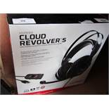 Hyper X Cloud Revolvers gaming headset, audio tested working, mic untested. Boxed.