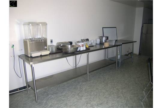 Approx Ft Stainless Steel Table Approx Ft Stainless Steel - 10 ft stainless steel table