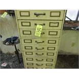 Lot (12) Drawer Cabinets w/ Drills, Reamers, Taps, Dies, Boring Head, Cutters, Etc.