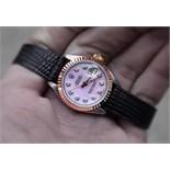 *Gorgeous* Rolex Pink Diamond 'Lady' DateJust 26 - 18K/ Steel