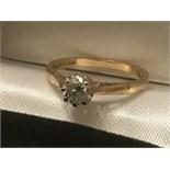 18ct YELLOW GOLD 0.40ct DIAMOND SOLITAIRE