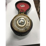 OLD COMPASS IN ORIGINAL DOUBLE OPENING CASE