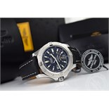 BREITLING COLT 44 AUTOMATIC - STEEL with BLACK DIAL & BLACK STRAP!