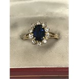SAPPHIRE APPROX 2.50ct & DIAMOND APPROX 0.80ct MARKED 750