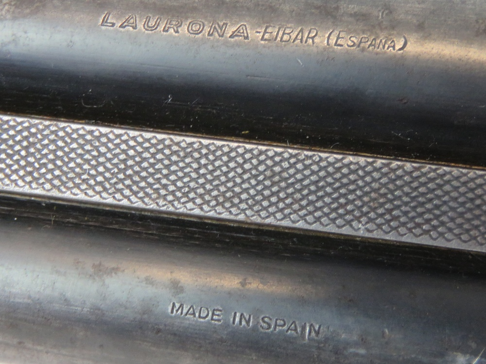 A deactivated (EU Spec) Spanish Laurona double barrel 12 gauge box lock shotgun with 27. - Image 4 of 5
