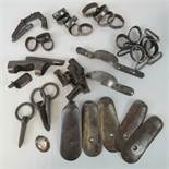 A quantity of assorted musket metalware.