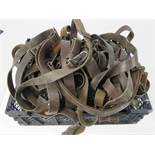 A quantity of German military Bundeswehr HK G3 Assault Rifle slings. Thirty items.