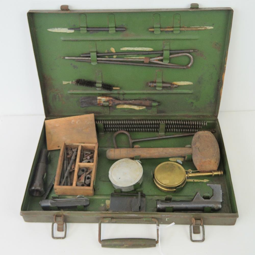 A rare and complete WWII British Military Bren gun armourers inspection tool kit.