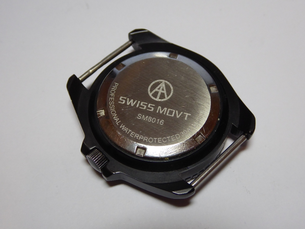 Lot 20 - A Cooper SM8016 professional 300m SAS/SBS dive watch, having 42mm black pvd case, sapphire crystal,
