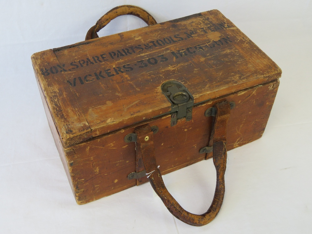 A WWI British military Vickers Armourers tool and spare parts kit,