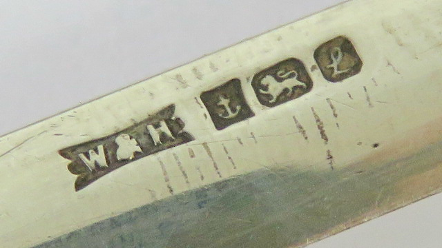 A HM silver miniature Japanese sword (odachi or nodachi) made by Walker & Hall, - Image 2 of 3