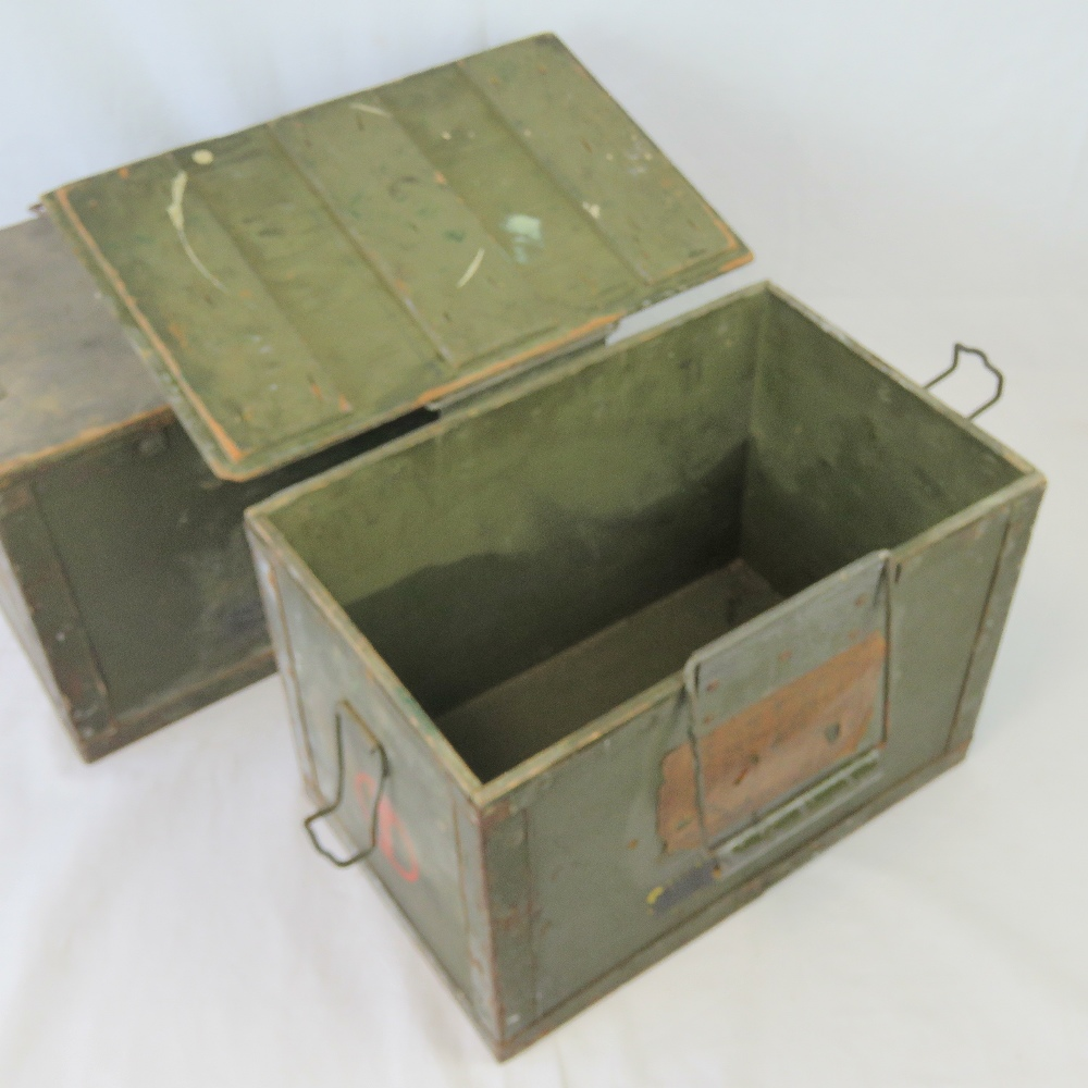 Two WWII British military Paratroopers Sten MK5 drop boxes. - Image 3 of 3