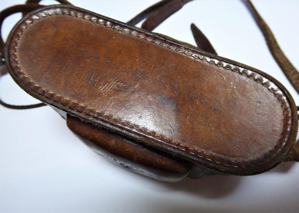 "An Agfa Karat camera in original leather case inscribed ""LIEUT H.F. NORTH, R.I.A.S.C, DELHI 1941"". - Image 3 of 4"