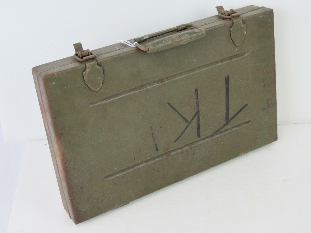Lot 54 - A rare and complete WWII British Military Bren gun armourers inspection tool kit.