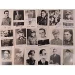 Twenty portrait photographs of German Knights Cross winners, printed and signed post-war.