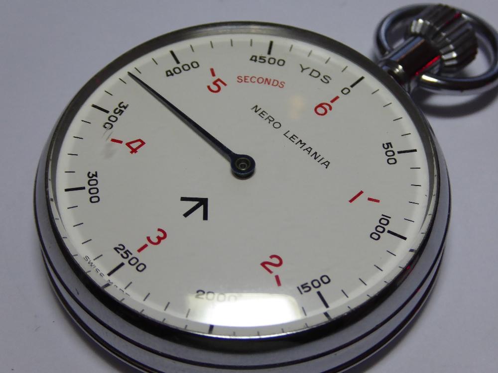 Lot 16 - A British Royal Navy issue Nero Lemania Sonar timer circa 1969.