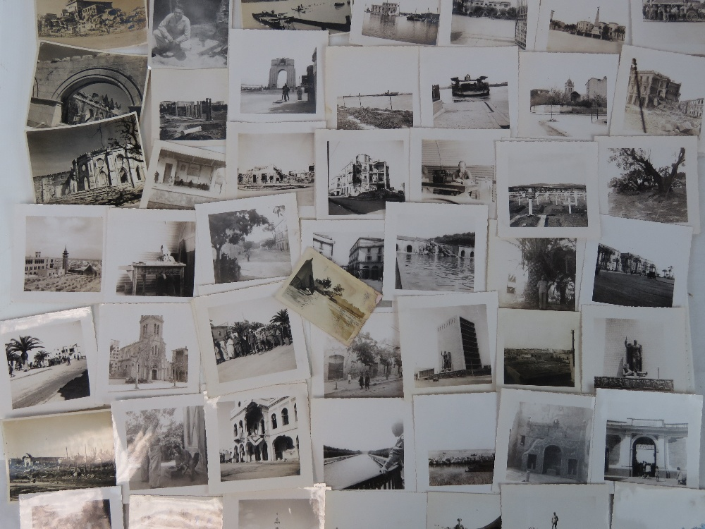 A quantity of WWII photos taken in Naples Italy and the surrounding area showing battle damage to