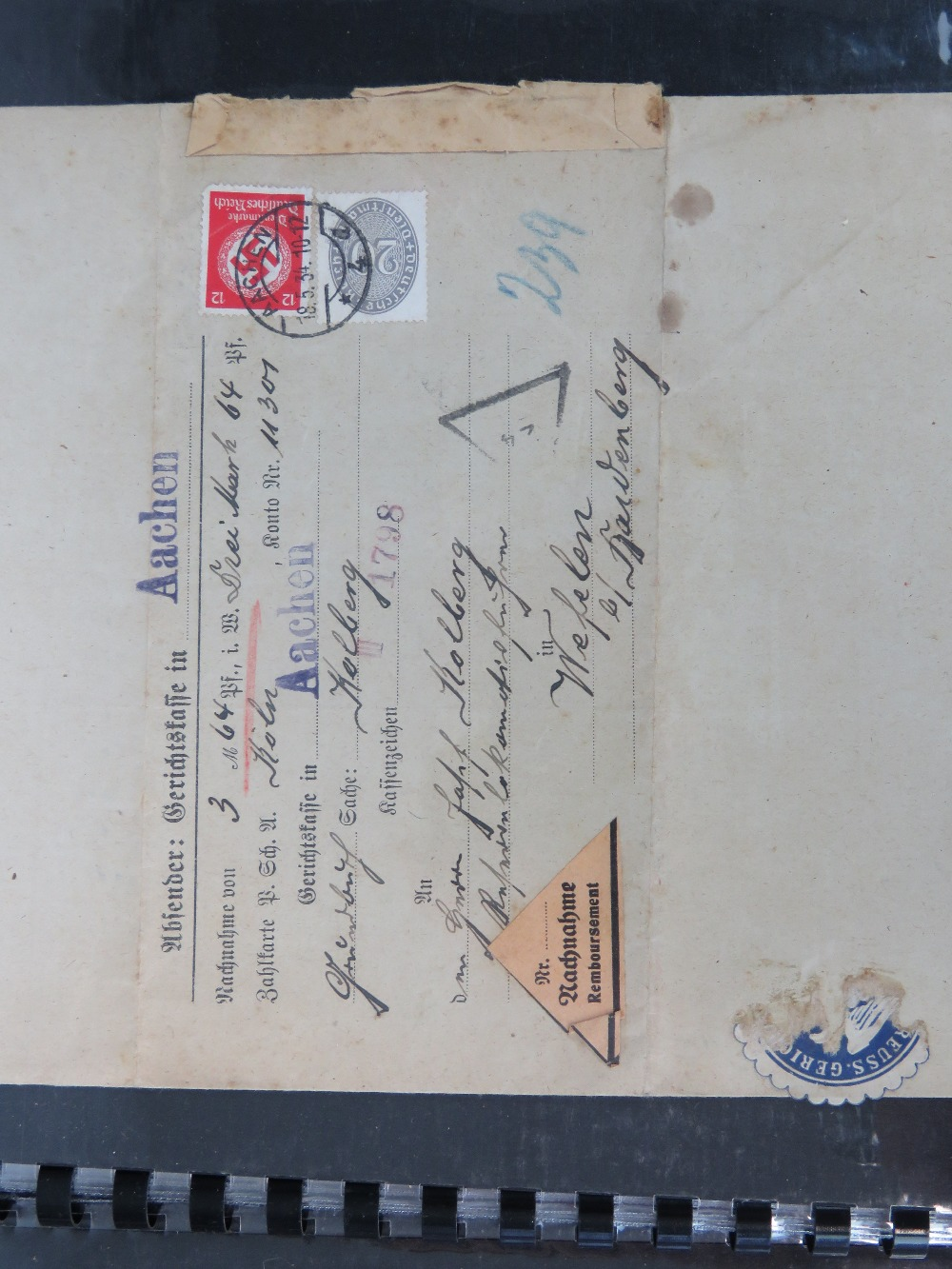 A quantity of WWII German documents and paper ephemera including; - Image 2 of 3