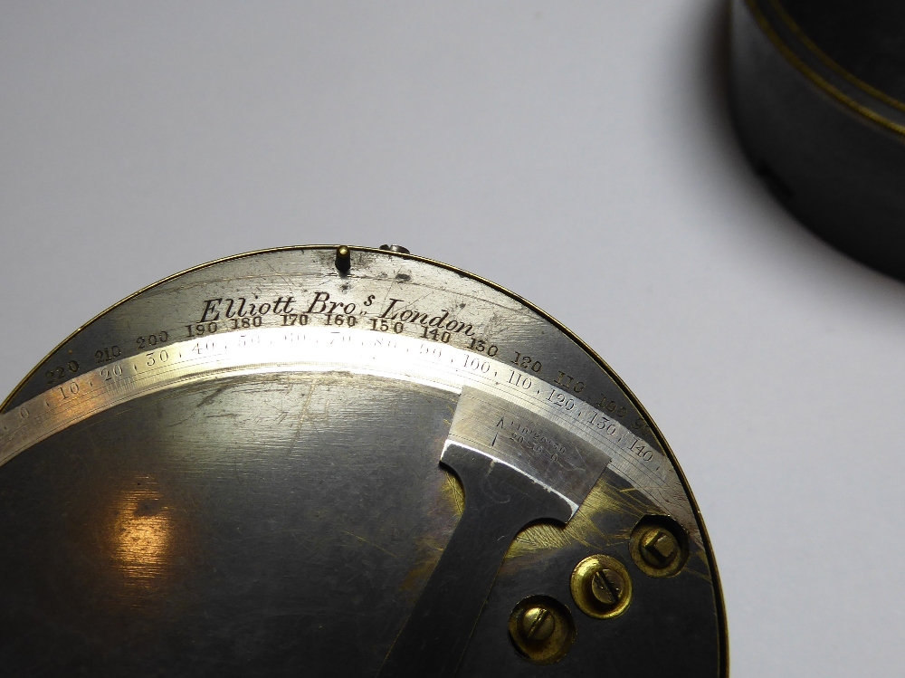 """A 19th Century pocket Sextant by Elliott Brothers, London. Inscribed to outer case """"J.D. - Image 2 of 6"""