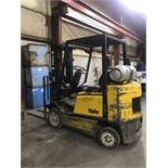 """Yale Lift Truck, 4,500 Lb. Capacity, 189"""" Max Lift (2-Stage), Side Shift, LP Gas"""