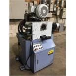"Soco Single End Chamfering/Finishing Machine Model EF-AC115, 5"" Capacity, Semi-Automatic, w/ Collets"