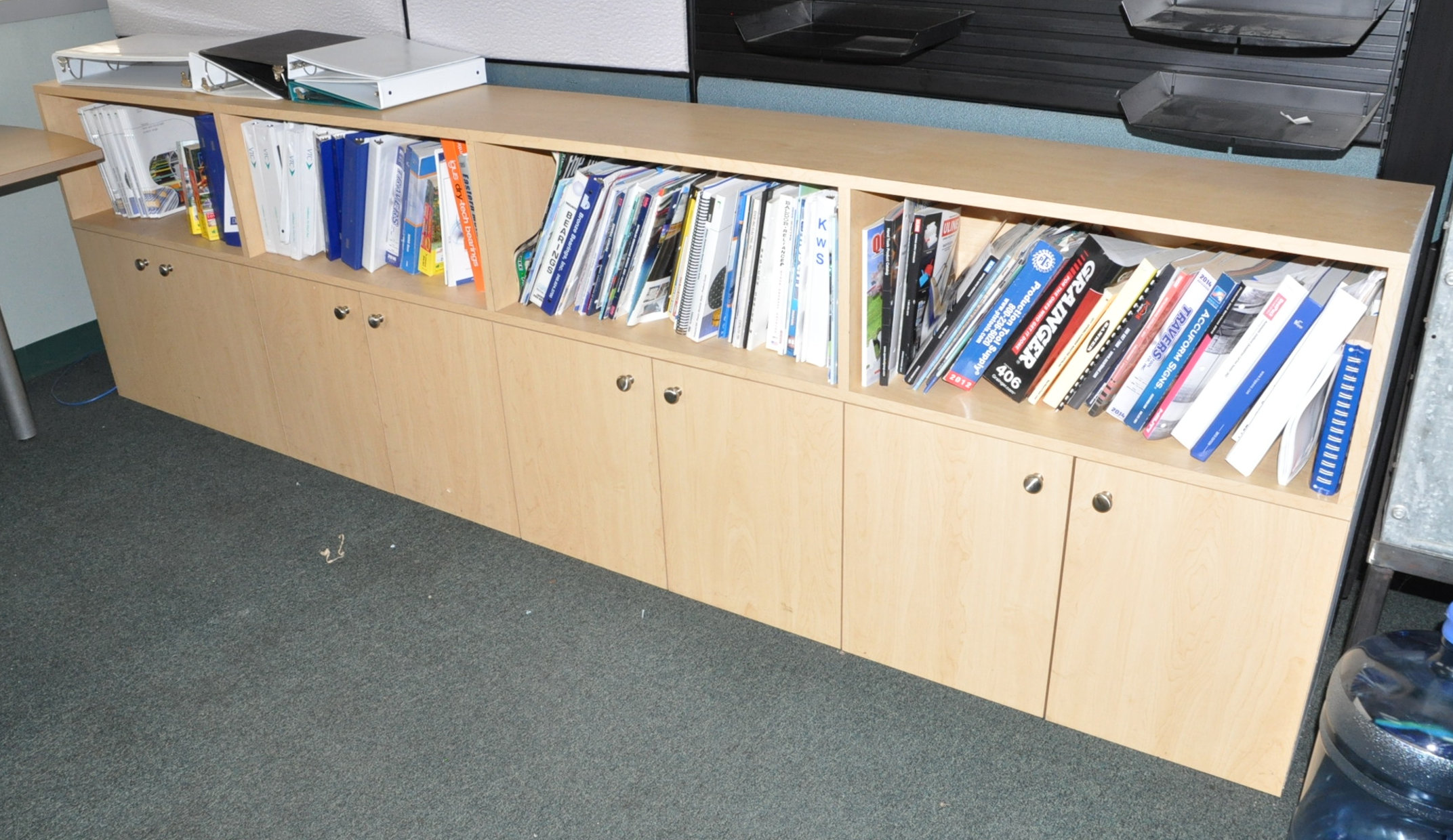 Modular Office Desk System with File Cabinet and Bookcase - Image 2 of 2