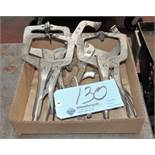 Lot-(5) Vise Grip Clamps in (1) Box