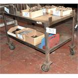 "32"" x 50"" Portable Steel Top Cart"
