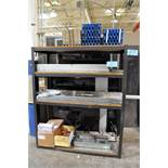 Lot-Metal Product Components on (1) Shelving Unit, (Shelving Not Included)